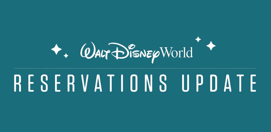 wdw reservation update