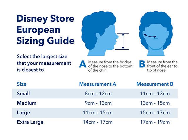 Disney Face Mask Size Chart