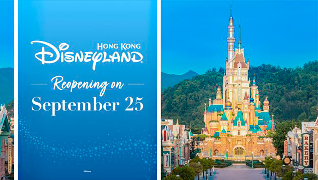 Hong Kong Disneyland Reopens 25 September