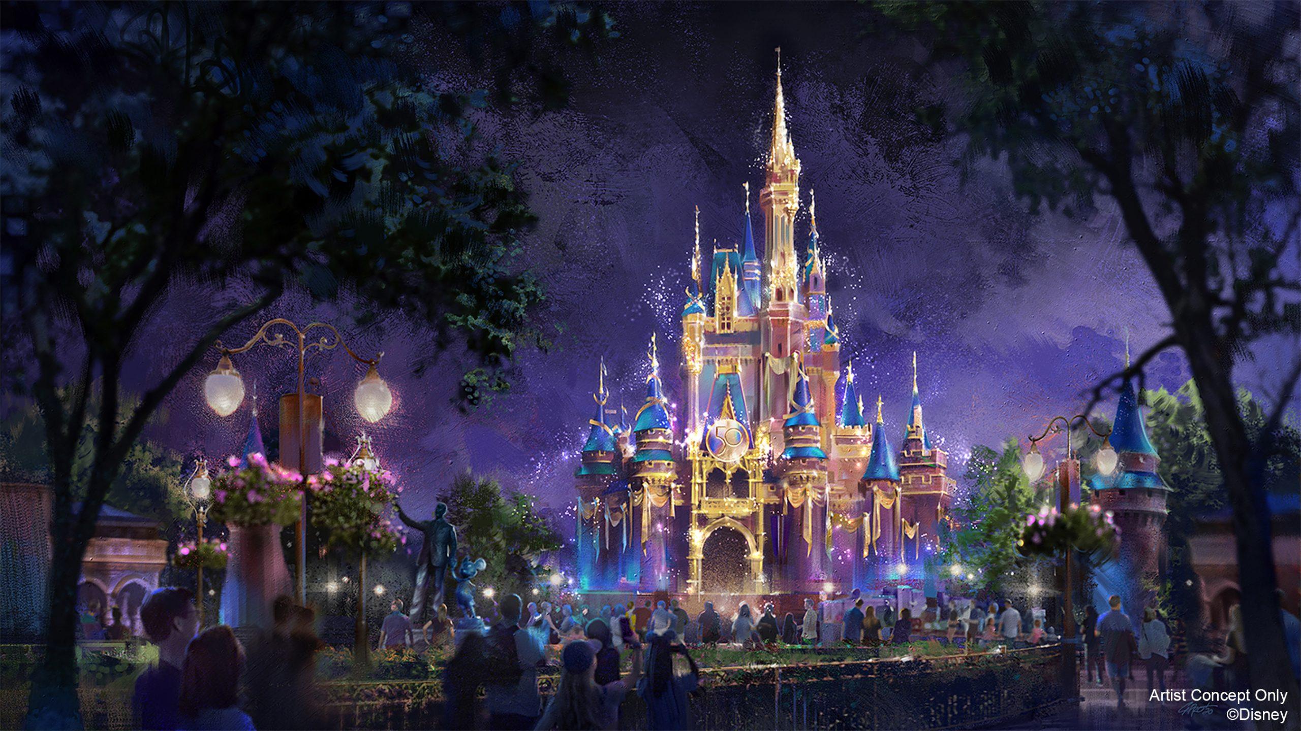 Magic Kingdom Cinderella Castle 50th Anniversary